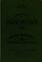 Catalogue & price list of Eugene Dietzgen Co: manufacturers of drawing materials and surveying instruments