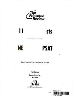 11 Practice Tests for the New SAT and PSAT PDF
