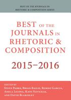 Best of the Journals in Rhetoric and Composition 2015 2016 PDF