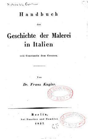Handbuch der Geschichte der Malerei PDF