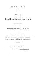 Proceedings of the Tenth Republican National Convention