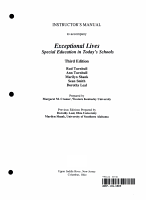 Instructor s manual to accompany Exceptional lives PDF