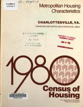 1980 Census of Housing: Metropolitan housing characteristics. Charlottesville, Va, Volume 2