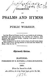 A Collection of Psalms and Hymns for Public Worship ... Thirteenth edition