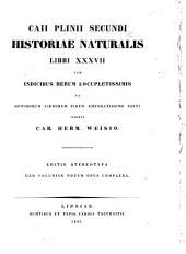 Caii Plinii Secundi Historiae Naturalis Libri XXXVII cum indicibus rerum locupletissimis ... editi, curante C. H. Weisio. Editio stereotypa