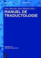 Manuel de traductologie PDF