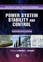 Power System Stability and Control PDF