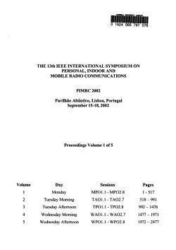 The 13th IEEE International Symposium on Personal  Indoor  and Mobile Radio Communications PDF