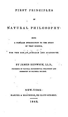 First Principles of Natural Philosophy PDF