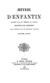Œuvres de Saint-Simon & d'Enfantin: précédées de deux notices historiques et publiées par les membres du conseil institué par Enfantin pour l'exécution de ses dernières volontés ..., Volumes29à30