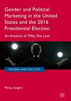 Gender and Political Marketing in the United States and the 2016 Presidential Election PDF