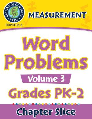 Measurement  Word Problems Vol  3 Gr  PK 2