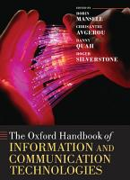 The Oxford Handbook of Information and Communication Technologies PDF
