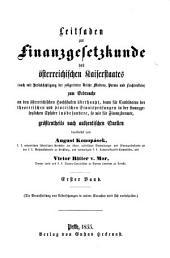 Leitfaden zur Finanzgesetzkunde des Osterreichischen Kaiserstadts