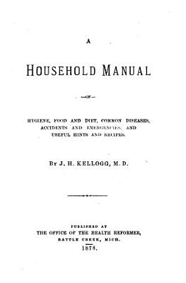 Household Manual of Hygiene  Food and Diet PDF