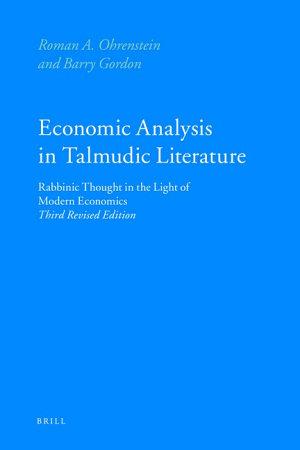 Economic Analysis in Talmudic Literature