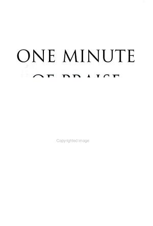 One Minute of Praise