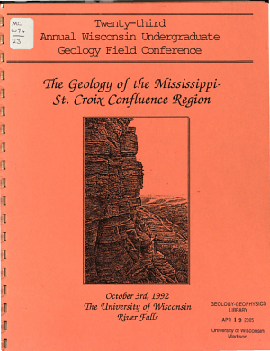 Annual University of Wisconsin Undergraduate Geology Field Conference PDF