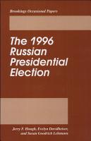 The 1996 Russian Presidential Election PDF