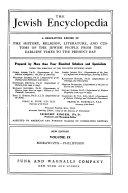 Download The Jewish Encyclopedia Book