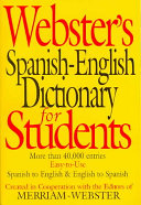 Webster s Spanish English Dictionary for Students Book