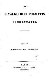 De C. Valgii Rufi poematis commentatio
