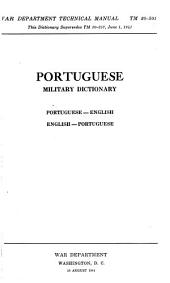 Portuguese military dictionary: Portuguese-English, English-Portuguese