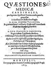 Quaestiones Medicae Cardinales