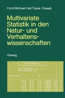 Multivariate Statistik in den Natur  und Verhaltenswissenschaften PDF