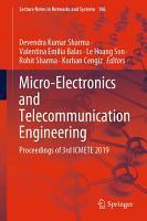 Micro Electronics and Telecommunication Engineering PDF