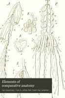 Elements of Comparative Anatomy PDF
