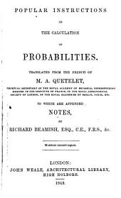 Popular Instructions on the Calculation of Probabilities