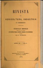 Rivista di agricoltura, industria e commercio: Volume 3