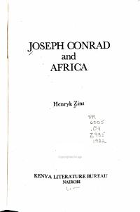 Joseph Conrad and Africa PDF