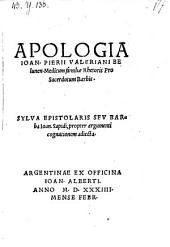 Apologia pro sacerdotum barbis. Sylva epistolaris seu barba Johannis Sapidi