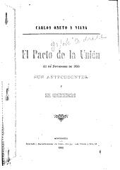 El Pacto de la Unión (11 de noviembre de 1855): sus antecedentes y sus consecuencias