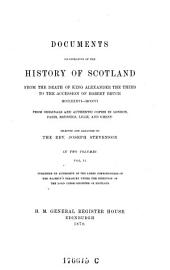 Documents Illustrative of the History of Scotland