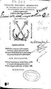 Ioachimi Perionii ... In Porphyrii institutiones et in vniuersum Aristotelis Organum uersio: eiusdem in eosdem libros obseruationes
