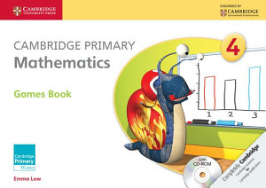 Cambridge Primary Mathematics Stage 4 Games Book With Cd Rom Book PDF