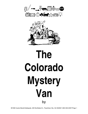 The Colorado Mystery Van Takes Off  PDF