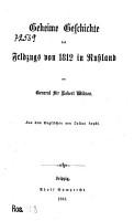 Geheime Geschichte desFeldzug von 1812 in Russland     PDF