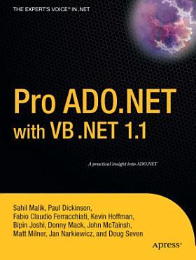 Pro ADO NET with VB  NET 1 1 PDF
