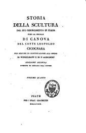 Storia della scultura dal suo risorgimento in Italia fino al secolo di Canova: per servire di continuazione all'opere di Winckelmann e di d'Agincourt, Volume 4