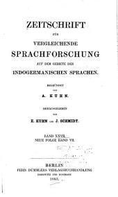 Zeitschrift für vergleichende Sprachforschung: Band 27