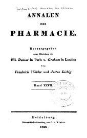 Justus Liebig's Annalen der Chemie: Bände 27-28