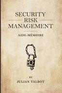 Security Risk Management Aide-Mémoire