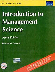 Introduction to Management Science Book