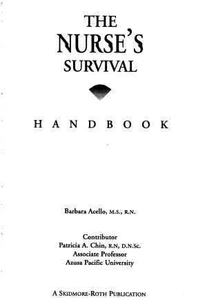 The Nurse s Survival Handbook PDF