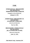 Bibliographie internationale des recensions de la litt  rature savante PDF