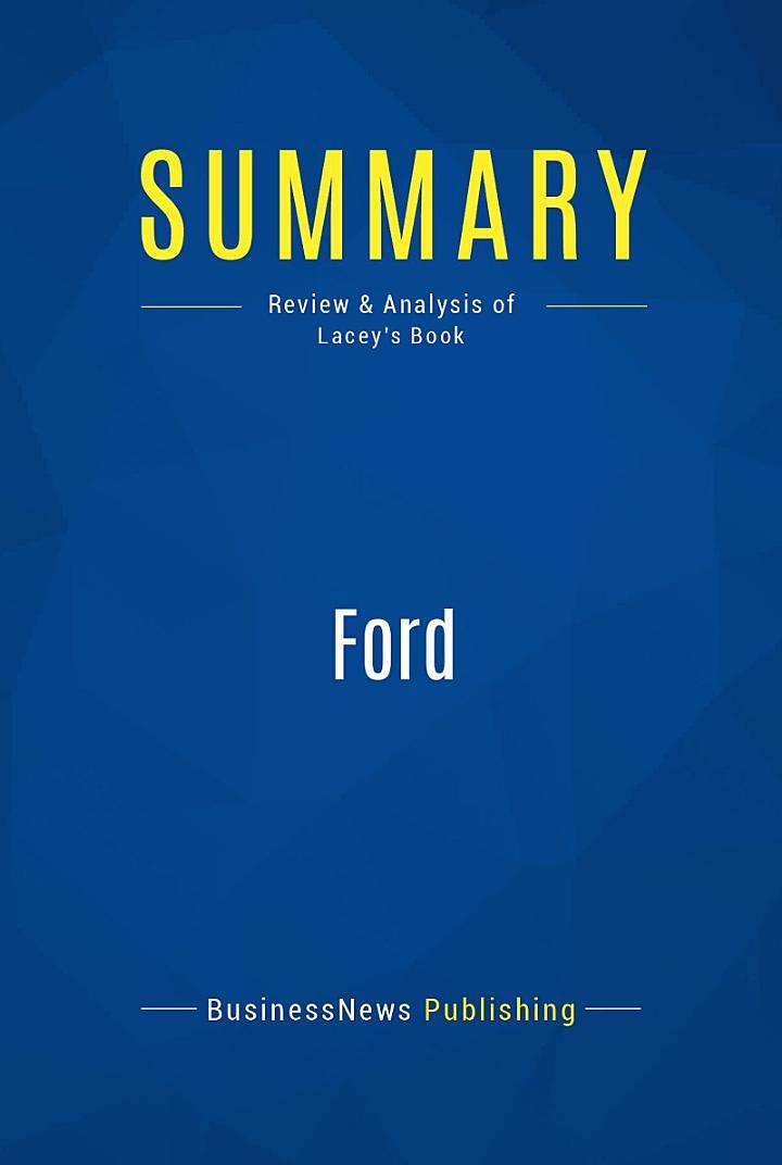 Summary: Ford